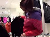 Striking czech sweetie gets tempted in the shopping centre and penetrated in pov