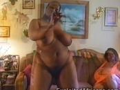 Massive big black African slut stripteases and masturbates