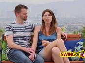 Couple goes into a crazy swinger party to try group sex