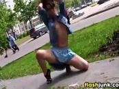 Girl Flashing Her Tits In Public
