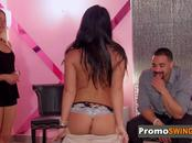 Stud gets a lap dance from naughty Chrissy in the pink room