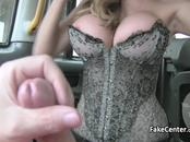 Sexy milf in lingerie fucked in cab