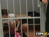 Horny, hot performs sexual favors to the guard so she can enjoy her night in jail.
