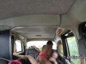 Ebony babe interracial anal in fake taxi