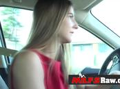 MILFS in cars are hot. Small titted cute blonde milf in POV sex in the bedroom