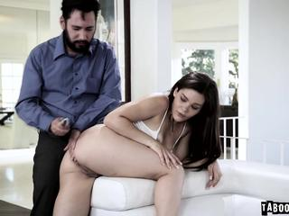 Kimber Woods butt plugged and assfucked by step daddy
