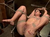 Bound slave gets toyed and whipped