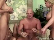 Lucky perv smashes 3 gorgeous massively stacked cougars