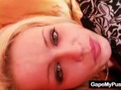 Kinky Blonde Shows Off Wet Vagina