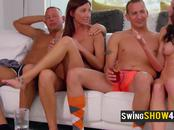 Jess and John get hot and wild as they meet with other horny swingers