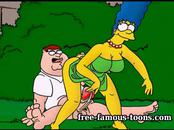 Griffins and Simpsons hentai parody orgy