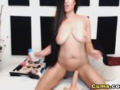 Sexy Latina Cam Babe Riding her Dildo