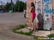 Wild Girl Flashing In Public