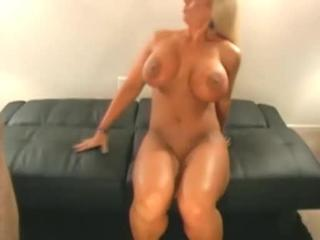 Large-Boobed Blonde MILF  Takes Erect Cock In Pussy