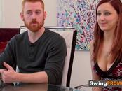 Brett and Laura join other horny couples in the red room for full swap