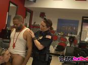 Police finds kinky criminal Keith Williams getting a haircut