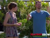 Couples play steamy games in the backyard as they strip down