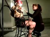 Bonded sub feels pain with her dom