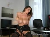 Busty Secretary Gets Filled Up By Big Cock