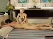 Sexy masseuse gives nuru massage and gets pounded by client