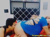 Horny Tranny Enjoy Sucking Boyfriend Cock