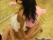 Amateur brunette mouth Hot ballet damsel orgy