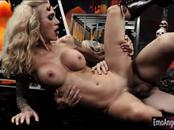 Tight busty blonde emo whore Sarah Jessie pounded real deep