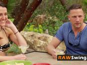 Amateur swingers swap partners in passionate orgy adventure