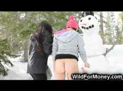 She Fucks a Snowman!