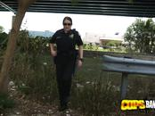 Kinky MILF cops craving a rough fuck for lunch
