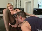 Alluring Nina Hartley Tongues Cock