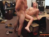 Tight blonde bimbo nailed by pawn dude at the pawnshop