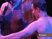 Couples enjoy an erotic play out in sin city before partying