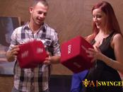 Laura and Brett go over the contract before foreplaying with other couples