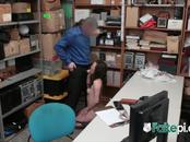 FAKE inspector slams horny TEEN inside his OFFICE