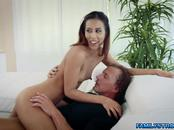 Slutty Demi Lopez gives stepdad a hot fuck