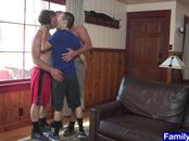 Stepgramps stepdad and stepson enjoy hot sweaty action