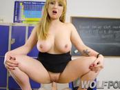 My teacher a horny busty seduces me and gives me a good blowjob