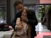 Rocco Siffredi assfucks Sofi Goldfinger whos licked by Ania