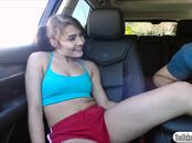 Sexy slut Adria Rae fucked by a stranger for a ride