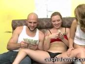 Cute blonde shown cash to get her naked but how much will it cost to fuck her