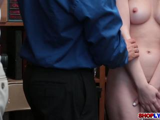 Sexy Gal Drilled by Officer for Freedom