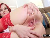 Kinky czech nympho opens up her spread muff to the unusual