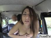 Busty amateur drilled by horny driver to off her fare