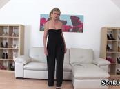 Cheating british milf lady sonia pops out her gigantic naturals