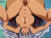 Graceful anime nymphet licking