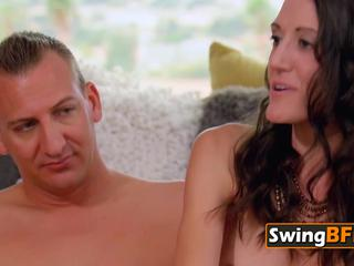 Swingers get naked as they foreplay during meet and greet