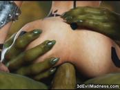 3D Orc Destroys Hot Warrior Girl!