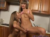 Nerd teen bathroom threesome Horny g/g teenagers munching each other