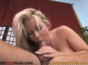 Fiery Amazing-Boobed Blonde Carolyn Reese Enjoys Stiffy Riding